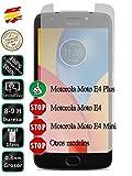 Movilrey Protector para Motorola Moto E4 Plus 4G 5.5 Cristal Templado de Pantalla Vidrio 9H para movil