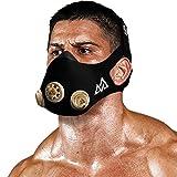 Training Mask - Workout Mask Chrome Series 2.0 for Cardio Endurance and Fitness Breathing Resistance Mask, Running Mask (Gold, Medium)