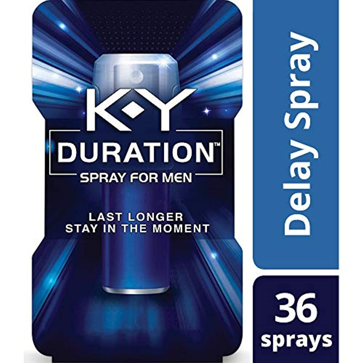 Duration Spray for Men, ?K-Y - Male Genital Desensitizer Spray to last longer, 0.16 fl Oz., ?36 Sprays/0.16 Made With Delay Lube for Men To Help Men Last Longer In Bed