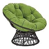 YB&GQ Egg Nest Chair Cushion, Indoor Outdoor Papasan Chair Cushion...
