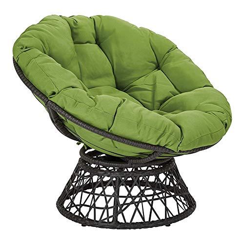 YB&GQ Ei-hängestuhl-Kissen, Indoor Outdoor Papasan Stuhl Kissen Verdicken Sie Runde Schaukel Stuhl Matte Kissen Zu Rocking Chair Pad Hängematte Aufhängen-grün 80x80x6cm(31x31x2inch)