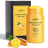 Turmeric Clay Stick Mask Organic Vitamin C Purifying Clay Mask Blackhead Cleansing Healing Clay Mud Mask Deep Clean Pore Improve Skin Acne Scars Facial Mask With Blackhead Remover Extractor Tools