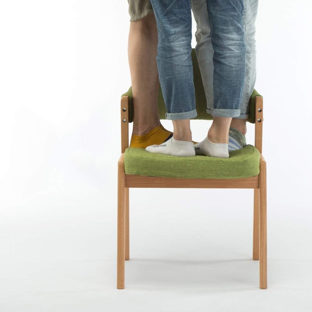 WDX- Chaise de Salle, Chaise de Bureau Simple, créative Dossier, Chaise Loisirs, Maison Adulte Chaise de Salle Confortable (Color : Dark Gray) Green