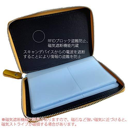 VivoStyle通帳ケースカードとセット収納本革製RFID盗難防止磁気遮断機能内蔵(0270B)(キャラメル)