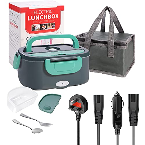 Electric Lunch Box for Car and Home,Portable Microwave Heat Lunch Box for...