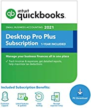 QuickBooks Desktop Pro Plus 2021 Accounting Software for Small Business 1-Year Subscription with Shortcut Guide [PC Download code]