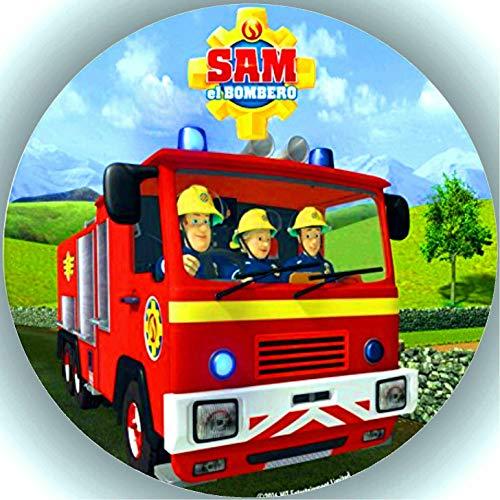 Fondant Tortenaufleger Tortenbild Geburtstag Feuerwehrmann Sam T 15
