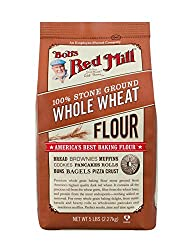 Bob's Red Mill Flour Whole Wheat 5-pounds (Pack of4)