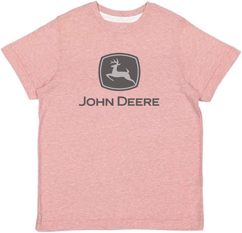 John Deere Pink Trademark Girl's T-Shirt