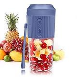 Mixer Smoothie Maker, Standmixer, Blender elektrisch, Shakes Mixer 3000mAh Batterie, 24.000 U/Min, BPA-Free Kompakter Juicer Blender Elektrisch für Haushalt, Reise, Outdoor-350ml,Blau