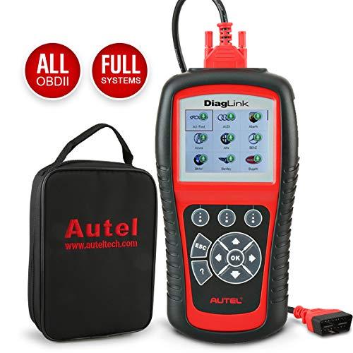 Autel DiagLink (Versione DIY MD802) diagnosi per Auto, Scanner diagnostico di Tutti i sistemi Moduli per ABS, SRS, Motore, Trasmissione ECC, con 2 funzioni di Reset di Reset EPB, Reset Olio