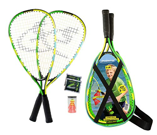 Speedminton® Junior Set – Original Speed Badminton/Crossminton Kinder Set inkl. 2 FUN Speeder®, Tasche