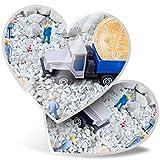 Impresionante pegatinas de corazón de 7,5 cm – Bitcoin Mining Criptomonedas Divertidas calcomanías para portátiles, tabletas, equipaje, reserva de chatarra, frigorífico, regalo genial #12613