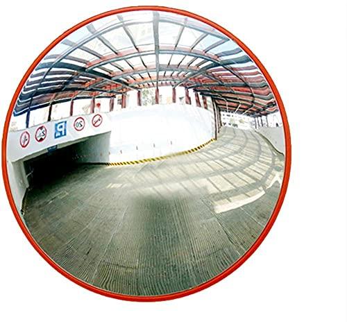 Espejo de tráfico irrompible Traffic Avergenere Seguridad de gran angular Curved Convex Road Mirror 130 grados Diámetro 30 cm (12) para seguridad vial y seguridad de la tienda con fijación ajusta