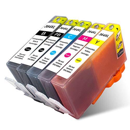 Se utiliza para reemplazo de cartucho de tinta HP364XL, compatible con C309a B109 B8550 B110 B209 B109a CE684E C6383 C309a C510a 3070A combinación de cartuchos de impresora