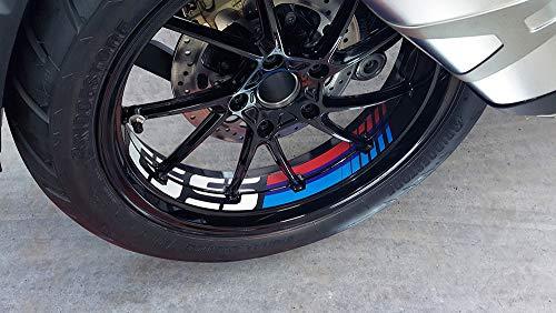 Uniracing K46845 Kit de décoration de Jante R1200GS LC '11-'18 et BMW R1250GS '19-'20, Noir Motorsport