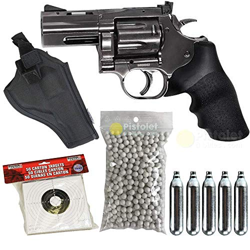 Unbekannt ASG-Pack Airsoft DW715 2.5' Co2 Full Metal mit Zubehör- Semi Automatik (0,5 Joule)-Version mit Low Power Steckdosen