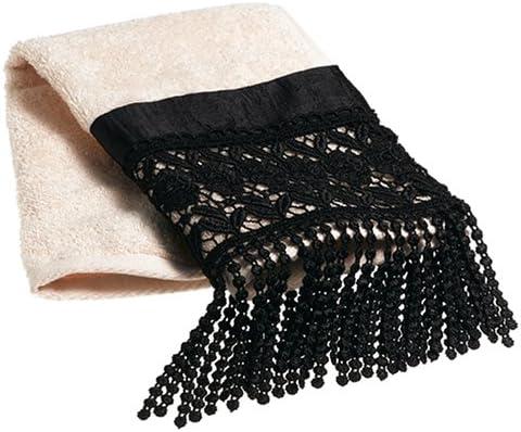 Croscill Macrame Directly managed store Embellished Towel Ranking TOP5 Fingertip Black