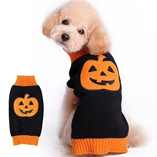 HAPEE Menpet Pet Holiday Halloween Pumpkin Dog Sweater