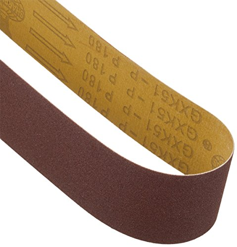 Scheppach 7903303701 Zubehör Schleifgerät/Schleifband Set 9 - teilig, passend für den Kombinationsschleifer BGS700, Körnung 60/120 / 180, 686 x 50 mm