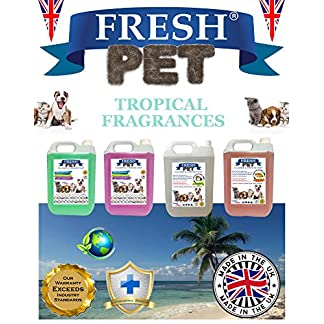 Trade Chemicals FRESH PET ECO Refill to make 4x5L Kennel, Cattery, Pet Disinfectant, Cleaner (TROPICAL PACK) 16