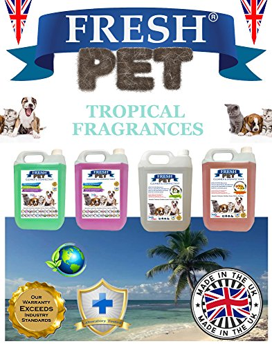 Trade Chemicals FRESH PET ECO Refill to make 4x5L Kennel, Cattery, Pet Disinfectant, Cleaner (TROPICAL PACK) 1