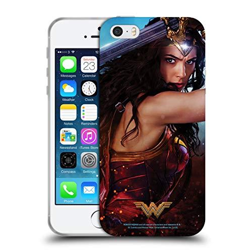 Head Case Designs Licenza Ufficiale Wonder Woman Movie Godkiller Sword 2 Poster Cover in Morbido Gel Compatibile con Apple iPhone 5 / iPhone 5s / iPhone SE 2016