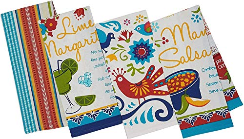 4 Mexican Food Theme  Kitchen Towel Set