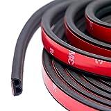 TideMC 16M 風切り音 防止テープ 車用ドアモール ウェザーストリップ 防音 車 ドア フード リアハッチ用 静音 防尘 2枚分 B型(黒)