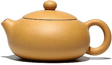 JIAZHOUMA 230 ml czajnik Yixing Mud Duan Flat Xishi ręcznie wykonany czajnik Kung Fu ręcznie robiony ceramiczny czajniczek