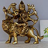 Aakrati Brass Sculptures and Statues Durga Idol Religious Hindu Home Décor 3 Inches