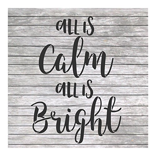 Christmas Words Stencil Quote All is Calm All is Bright for Craft and Home Decoration Wood Signs CFT0045