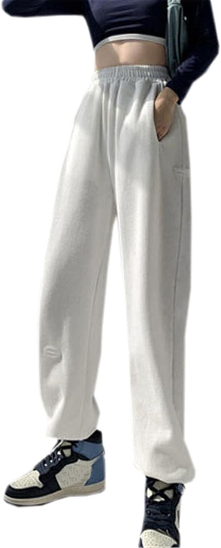 NAWONGSKY Women's Wide Leg Jogger Pants with Drawstring Bottom