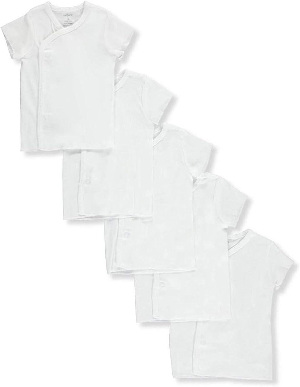 Carter's Unisex Baby 5-Pack Shirts - White, premie