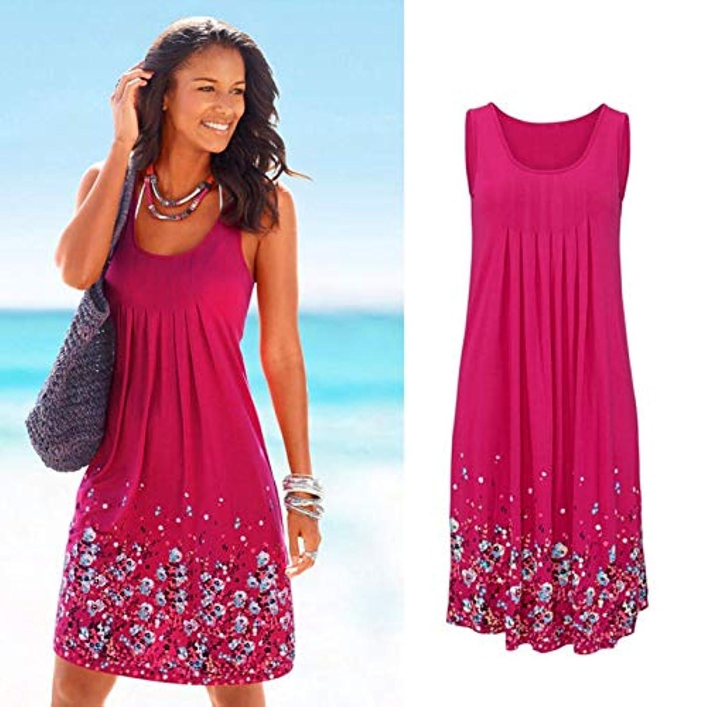 レギュラー与えるからMaxcrestas - ノースリーブ花柄を印刷ルースドレスファッション六色カジュアルの女性のドレスローブファムエテ2018セクシーなドレスプラスサイズ