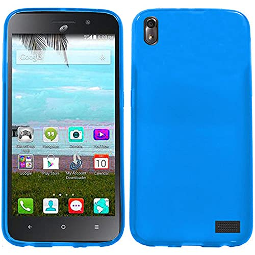 Huawei Pronto LTE H891L / Ascend SnapTo G620-A2 LTE/Huawei Vision 3 Case, Luckiefind Thick Rugged Solid TPU Flexible Gel Candy Cover Case, Stylus Pen, Screen Protector Accessory (Blue)