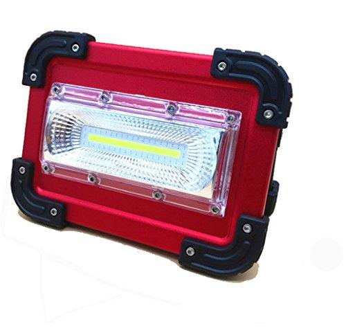 Doogu 30 W COB LED rechargeable de travail Flood Light, anti – Crash, Coque en alliage d'aluminium IP65 étanche Sécurité lumières d'urgence pour camping Fashing Marche le chien avec batterie 18650