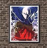 Japanese Manga Anime Saitama One Punch Superhero Canvas Art Print for Wall Decoration,8 x 10 Inches,No Frame