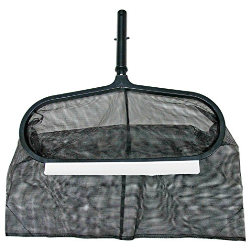 Poolmaster 21182 Solid-Core Aluminum Swimming Pool Leaf Rake with Durable Mesh Net, Premier Collection