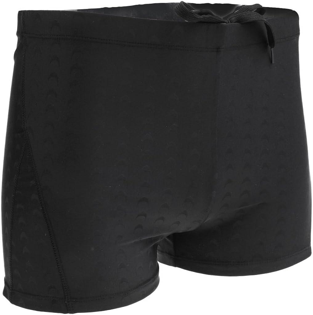 Bonarty Men's Swim Trunks Boxers Shorts Waterproof Swimwear for Racing