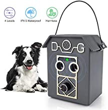 Anti Barking Device,2020 Upgrade Dog Barking Device with 4 Adjustable Level,2 Ultrasonic Sound Speaker, Sonic Bark Deterrents, Bark Deterrent 50 Ft Range Safe for Small Puppies, Medium & Large Dogs