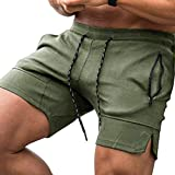 COOFANDY Men's Gym Workout Shorts Weightlifting Squatting Short Fitted Training Bodybuilding Jogger with Pocket Army Green