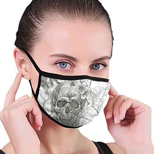 Comfortabel masker,Schilderij Schedel Bloemen Dia De Los Muertos Feestelijke Ontworpen,Gezichtsdecoraties voor Vrouwen en Mannen