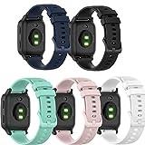 Ruentech Pulsera compatible con Garmin Venu Sq/Venu, pulsera de silicona, cierre rápido, accesorios (negro, azul, verde azulado,...