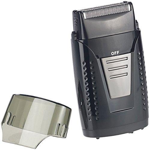 Sichler Men's Care Akku Rasierer: Vibrationsfreier Folien-Akku-Reiserasierer, IPX5, USB-Ladebuchse (Minirasierer)