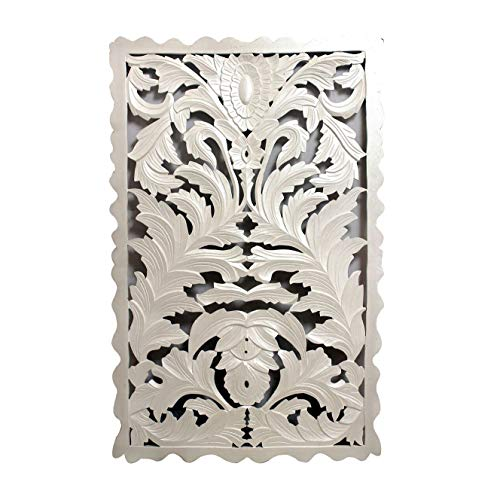 A&B Home Carved Wood Panel White for sale  Delivered anywhere in Canada