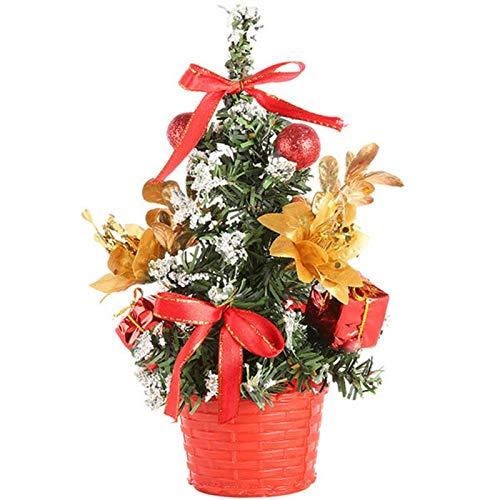 Albero di Natale da tavolo, albero di Natale in PVC, ignifugo da 20 cm, albero di Natale artificiale per la casa, decorazione da ufficio, bricolage, decorazioni per feste