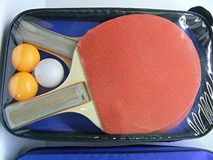 ProDigital tenis mesa color Juego Ping Pong 2raquetas + 3bolas). La Raqueta de ping pong no professionista Ma ligera para un excelente corte excelente para Dilettanti y principiantes