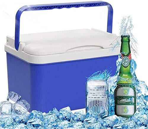 Erosch Tragbare Groß 12L Kühlbox, Party Stacker, Essen und Trinken Getränke Kühlbox, Geeignet for Gefrierschrank for Auto, Haus, Camping, Strand (Color : Blue)