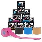 Cinta de Kinesiología precortada ZiATEC Pre-Cut Kinesiology Tape   Cinta de quinesiología, piel sensible, ideal para principiantes, cinta deportiva, tamaño:4.5m (18 x 25cm), color:1 x rosa